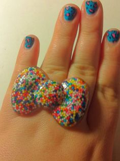 Hello Kitty Bow Ring by PunkerBoodleBoutique on Etsy, $7.00