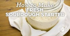 How To Make Fresh Sourdough Starter from Refrigerated Starter