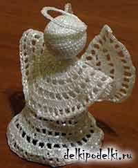 ангел вязаный крючком - сборка