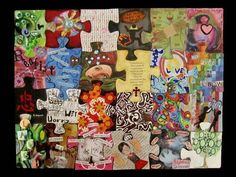 Self Portrait Altered Puzzle - PAPER CRAFTS, SCRAPBOOKING & ATCs (ARTIST TRADING CARDS)