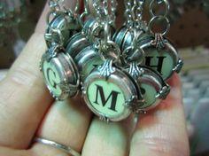 Typewriter key pendants