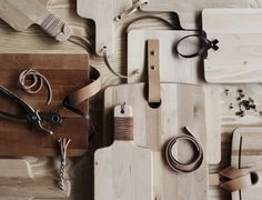 Ikea Cutting Boards and Leather Straps and Strings, Remodelista