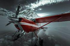 Cessna 185 Skywagon in Alaska.