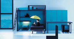 Life box 05. Dormitorio infantil con litera y armario