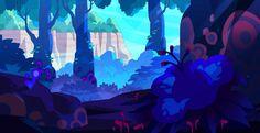 Kat Tsai - Four of my favorite backgrounds that I painted for. Cartoon Network, Jason Song, Steven Universe Background, Dan Norton, Eliot Kid, Peter Chan, Studios, Teen Titans Go, Art Blog
