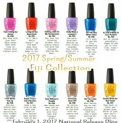 My next polish collection OPI 2017