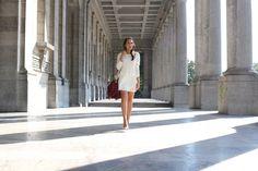 Flirty white dress in Bruxelles