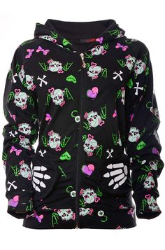 Jawbreaker Zombie Skull Women's Hoody