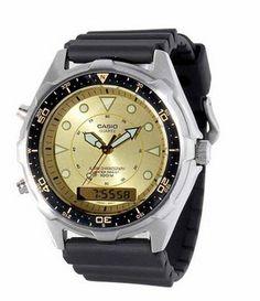 Casio Men's AMW320D-9EV Ana-Digi Alarm Chronograph Dive Watch,( 200 Reviews) Dive watches, dive watch, scuba diving watch, scuba diving equipment