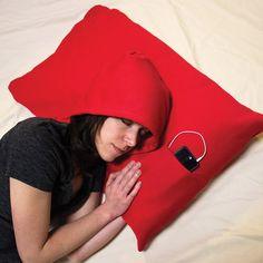 HoodiePillow Hooded Pillow Case | Looks kinda cool | #gadgets #electronics #pillow