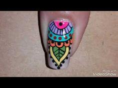 Diseño de flor fácil de hacer - YouTube Mani Pedi, Manicure, Coffin Nails, Gel Nails, Mandala Nails, Nail Art Kit, Nail Art Videos, Stylish Nails, Nail Tutorials
