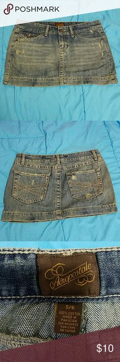 Aeropastle Jean Skirt EUC. Super cute with sandals or boots! Aeropostale Skirts