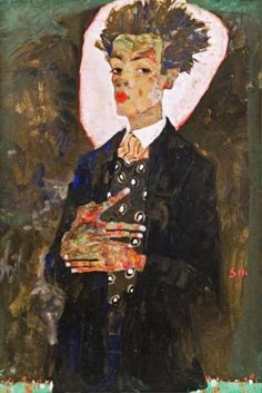 Egon Schiele, Self Portrait, 1911. Neue Galerie, NYC