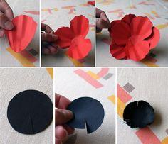 DIY Paper Poppy pt 2