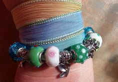 Beautiful Silk Wrap BraceletHurry Up Spring by WolfMountainJewelry, $25.00