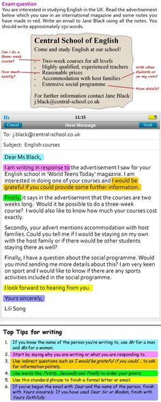 A more formal email | LearnEnglishTeens