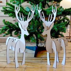 Make Your Own Festive Reindeer by NettyandDi on Etsy,