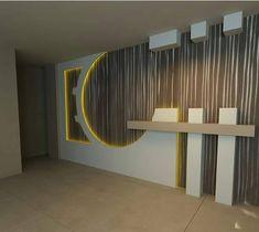 30 Popular Custom Gypsum Board TV Units That People Choose - Dwell Of Decor House Ceiling Design, Tv Wall Design, House Front Design, Booth Design, Exterior Wall Design, Interior Design Kitchen, Modern Tv Wall Units, Ideal Bathrooms, Entrance Decor