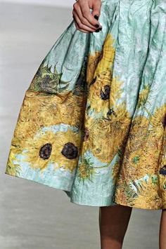 Rodarte's Pixilated Van Gogh Fabrics | LUUUX