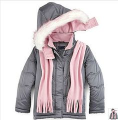 NWT Girls Rothschild Wave Puffer 2 Pc Jacket in Storm Grey - Size 14 #Rothschild #PufferJacket #Everyday