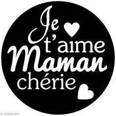 Kit tampon clear et bloc acrylique - Je t'aime maman chérie - 3,5 cm Silhouette Portrait, Silhouette Cameo, Mother Day Gifts, Gifts For Mom, Image Newsletter, Tampon Scrapbooking, Tampons Transparents, Scan And Cut, Family Quotes