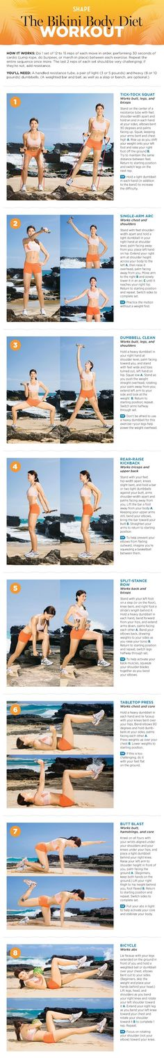 Want to take your workout to the next level? Try this Bikini Body Workout and be ready for a serious challenge. Re-pin now, check later. #workoutchallenge