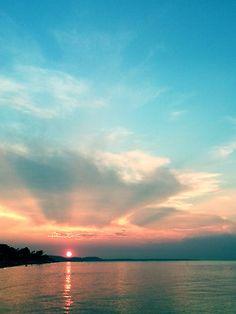 Sunset at Chanioti, Chalkidiki