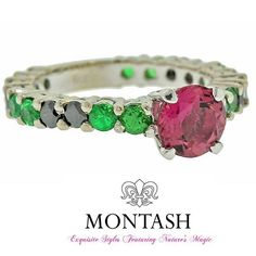 The #alternate #birthstone for #October is the #tourmaline, a gemstone that exhibits the broadest spectrum of gemstone #colours. #pinktourmaline #montashjewellerydesign