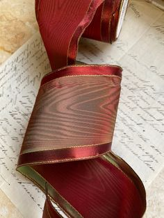 25mm Wide *** XMAS *** ANTIQUE GOLD SATIN Ribbon