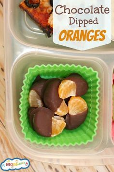 Chocolate Dipped Oranges are a wonderful treat to add to your @EasyLunchboxes