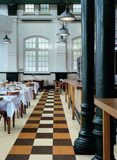 marmoleum_g3 mar_dualtiles notablerugsca - Linoleum Restaurant Interior