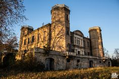 Chateau Stranieri in Midi, Pyranees, France. Built in the 19th century, magnificent Castle Stranieri has been abandoned for about twenty years.