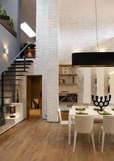 Wide, open brick space