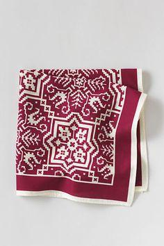 $19, Burgundy Print Pocket Square: Lands' End Print Cotton Pocket Square. Sold by Lands' End. Click for more info: https://lookastic.com/men/shop_items/80638/redirect