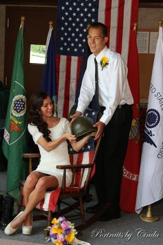 My soldier and I on our wedding day!
