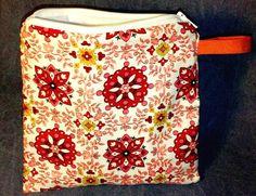 Small Wet Bag  Zipper Sandwich Bag  Reusable  Folk Art
