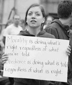 Morality & Obedience!