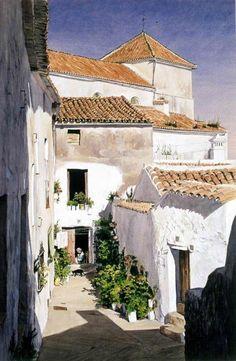 Watercolor Architecture, Watercolor Landscape, Watercolor Paintings, Watercolour, Architecture Board, Landscape Drawings, Landscape Art, Landscape Paintings, Urban Sketching