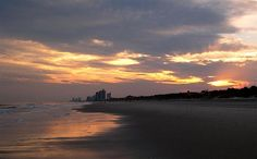 Surf Sunset On The Golden Mile by Kathleen Palermo