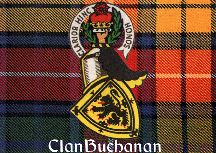The only clan outside the royal family allowed to use a for Buchanan clan tattoo