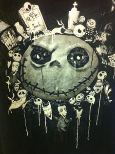 Jack Skellington Shirt XL Nightmare Before Christmas Official Disney Tim Burton
