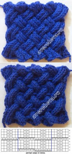 Узор 626 « двухсторонняя плетенка» | каталог вязаных спицами узоров
