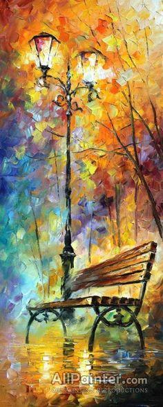Triptych Wall Art 3 Panel Painting On Canvas By Leonid Afremov - Aura Of Autumn (Set Of Size: 16 X 40 inches Each Triptychon-Gemälde-Set Aura des Herbstes von AfremovArtStudio Oil Painting On Canvas, Canvas Art, Canvas Ideas, Painting Art, Autumn Painting, Painting Classes, Painting Walls, Knife Painting, Blank Canvas