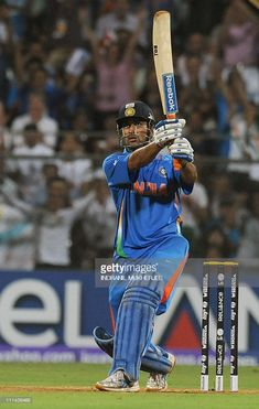 Indian captain Mahendra Singh Dhoni hits a six to win against Sri Lanka during the Cricket World Cup 2011 final at The Wankhede Stadium in Mumbai on April India beat Sri Lanka by six. Get premium, high resolution news photos at Getty Images 2011 Cricket World Cup, India Cricket Team, Cricket Sport, Best Wallpaper For Mobile, Reebok, Ms Dhoni Photos, History Of Cricket, Ms Dhoni Wallpapers, Cricket Wallpapers