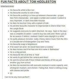 Fun Facts About Tom Hiddleston,