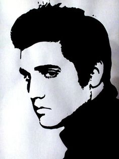 elvis stencil - Google Search