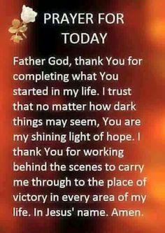 Prayer For Today! Prayer Scriptures, Bible Prayers, Faith Prayer, God Prayer, Prayer Quotes, Power Of Prayer, Bible Quotes, Bible Verses, Qoutes