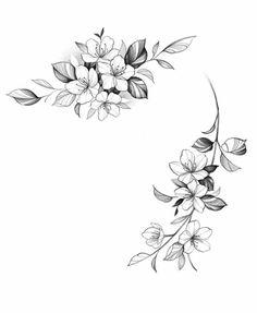 Cute Tattoos, Flower Tattoos, Neck Tattoos Women, Woman Sketch, World Tattoo, Desenho Tattoo, Botanical Illustration, Tattoo Inspiration, Blackwork