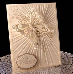 Stunning card!! Need to find that embossingg folder for sure! Flutterby Birthday by jasonw1 - Cards and Paper Crafts at Splitcoaststampers