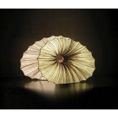 """""""Viola Lamp"""" ~ silk over metal"""